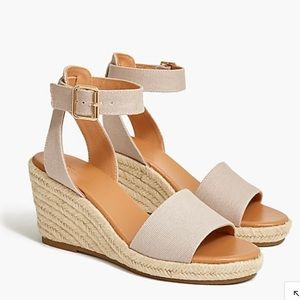JCrew Canvas Wedge Sandals
